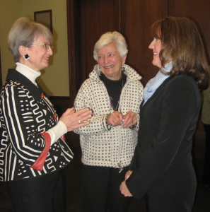 Susie Webb Ries, Julie Webb, and then-First Lady Crissy Haslam