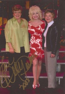 Dolly Parton with Maryann Bork and Frances Darnell of FOTL.