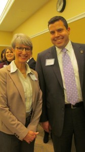 Susie Ries and State Rep. Jason Powell